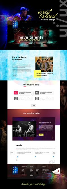 An ultimate example of a musical job portal website design by 42works.  And if you want more, login to 42works.net for design inspiration, ui design, ux design, responsive website design, layout design, wireframe design, logo design, wordpress theme, website branding or much more.