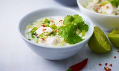 Recipe: Thai chicken soup with coconut milk and ginger