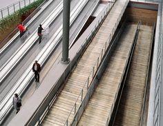 """Centro Commerciale """"La Certosa"""" Ipermercato Carrefour, Antonio Besso Marcheis. © Luigi Gariglio Railroad Tracks, Luigi, Train Tracks"""
