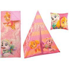 Nickelodeon Paw Patrol Teepee Play Tent and Slumber Bag with Bonus Pillow, Multicolor