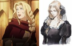 Lisa from castlevania animated tv show, manga, & video games. Alucard Castlevania, Castlevania Netflix, Manga Art, Manga Anime, Anime Art, Character Inspiration, Character Art, Character Design, Video Game Art