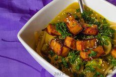 Kari kokosová polévka Ramen Ratatouille, Tofu, Ramen, Ethnic Recipes