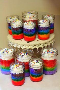 Rainbows in a jar