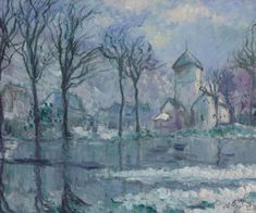 The Mill in the Flood, Giverny, 1910. Theodore Earl Butler, (1861–1936)