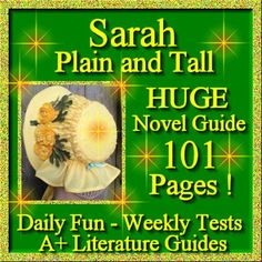 Sarah, Plain and Tall Novel Study Unit