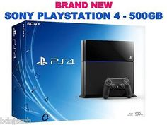 New Sony PlayStation 4 (Latest Model) 500GB - PS4 Jet Black Console