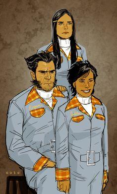 Logan, X-23 & Jubilee by Phil Noto