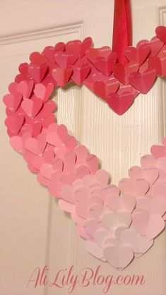 Diy: VALENTINE'S DAY OMBRE PAINT CHIP WREATH