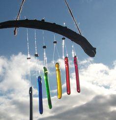 Glass rainbow wind chimes - Jane O'Neill