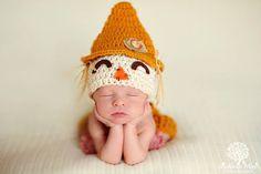 Baby Boy Scarecrow Hat And Pants / Short Set por JerribeccaHats2