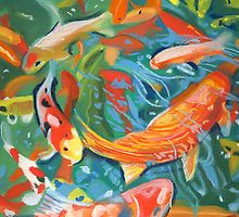 abstract koi pond by ria hills