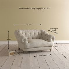 Chesterfield Style Sofa, Fabric Armchairs, Single Sofa, Living Room Inspiration, New Room, Ideal Home, Chair Design, Love Seat, Family Room