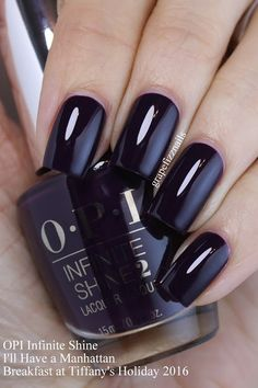 "OPI Infinite Shine ""I'll Have a Manhattan"" (Breakfast at Tiffany's Collection) Funky Nails, Love Nails, How To Do Nails, My Nails, Nail Polish Art, Nail Polish Designs, Nail Designs, Fabulous Nails, Gorgeous Nails"