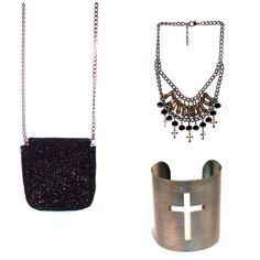 Meninas, frete grátis em nossa loja virtual. Aproveitem!!!   - Bolsa preta glitter http://loja.lollisacessorios.com.br/product/739157/bolsa-preta-glitter  - Colar cristal pingente cruz http://loja.lollisacessorios.com.br/product/714339/colar-cristal-pingente-e-cruz  - Bracelete cruz sacessorios.com.br/product/682294/bracelete-cruz