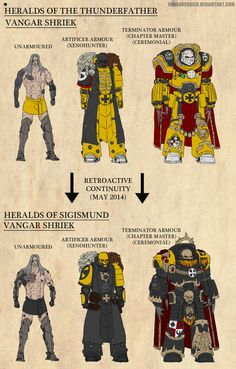 Vangar Retcon by VangarShriek on DeviantArt Warhammer 40k Figures, Warhammer Art, Warhammer Models, Warhammer 40000, Apocalypse, Marine Colors, Fallout Art, Imperial Fist, Space Wolves