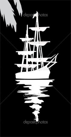 ideas for boats art painting pirate ships Stencil Patterns, Stencil Art, Stencil Designs, Silhouette Cameo Projects, Silhouette Design, Boat Art, Wood Burning Patterns, Scroll Saw Patterns, Pyrography