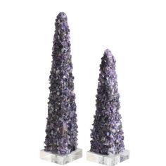 Cienega Purple Quartz Obelisks (Set of 2)