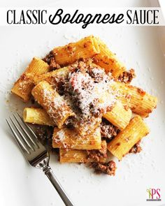 Bolognese Meat Pasta Sauce Recipe | Positively Splendid {Crafts, Sewing, Recipes and Home Decor}