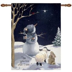 Amazon.com: Manual Woodworkers & Weavers Do You See What I See Snowman Tapestry Wall Hanging by Sandi Gore Evans: Home & Kitchen