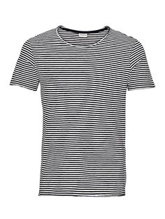 PREMIUM by JACK & JONES - T-Shirt von PREMIUM - Slim fit - Rundhalsausschnitt - Grobe Ränder 100% Baumwolle...