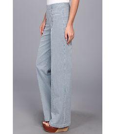 Nanette Lepore Traveler Trouser Indigo/White - 6pm.com
