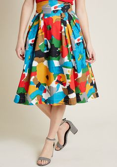 Emily and Fin Far-Out and Fabulous Midi Skirt in Floral