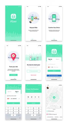 Aber UI Kit is a full featured mobile UI Kit for getting started with taxi app like Uber applications. It also includes 30 ready-made screens for iOS to make your design flow simple. Ios App Design, Mobile Ui Design, Android App Design, Menu Mobile, Bar Mobile, Application Ui Design, Application Mobile, App Design Inspiration, Ui Kit