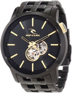 Rip Curl Men's A2507 - MID Analog with Gunmetal Platting Watch Rip Curl. $329.89. 316l stainless steel case. Miyota analog quartz movement. Date sub dial. 50 mm case. Water-resistant to 100 M (330 feet)