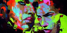 Nielly, Françoise - Untitled 380 - Expressionism - Oil on canvas - Portrait #Art