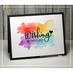 watercolor background, stamps and dies - Simon Says Stamp