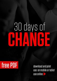 30 Days of Change - Equipment Free! Includes a customizable meal plan too? I can't wait to start!!!!
