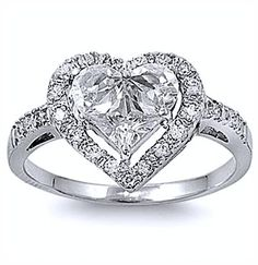 nice The Elegant Appearance with theHeart Shaped Wedding Rings
