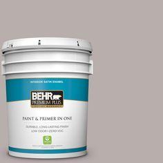 BEHR Premium Plus 5 gal. #PPU17-11 Vintage Mauve Zero VOC Satin Enamel Interior Paint