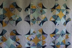 Candy Blossom, Sew Kind of Wonderful Quick Curve Ruler. Longarm quilting by The t Shirt Quilt Company, Springboro, Ohio. We ship!