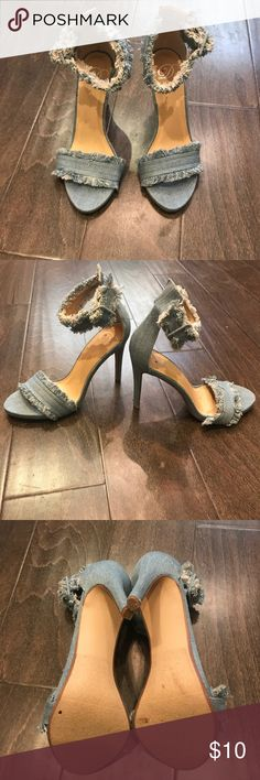Jeans high heels sandal no name brand size8 Brand: noBrand High heels Color: Jeans Condition: New Size: 8 Shoes Heels