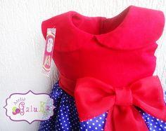 Vestido Vermelho azul