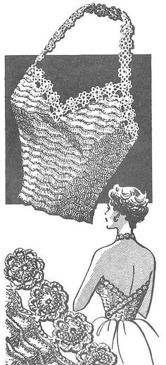 1946 Sexy Halter Top Vintage Crochet Pattern PDF Instant Source by Débardeurs Au Crochet, Mode Crochet, Crochet Shirt, Crochet Borders, Easy Crochet, Double Crochet, Crochet Tops, Crochet Granny, Vintage Crochet Patterns