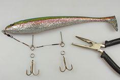 Die Drillinge mit Sprengringen befestigen Ice Fishing, Kayak Fishing, Fishing Knots, Saltwater Fishing, Trout Fishing, Fishing Tackle, Fishing Tips, Fishing Outfits, Fishing T Shirts