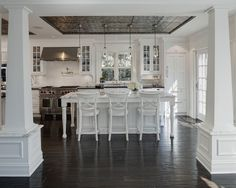 wonderful white kitchen ... fresh + casual