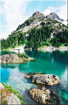 Cream Lake near Campbell River in Strathcona Provincial Park at the bottom of Mount Septimus, British Columbia
