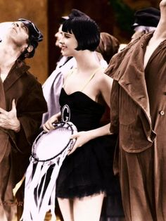 Louise Brooks 1927 in color from Now We're In The Air