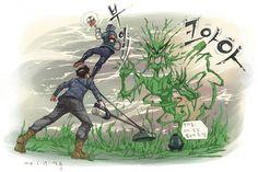 잡초와 사투중인 우리형제들