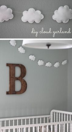 This DIY Cloud Garland will have you dreaming of other adorable decorations for your baby's nursery. Wonderfully simple to make, we love the idea of adding this charming accessory to the wall above his crib.
