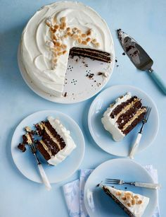 S'mores Brownie Cake.