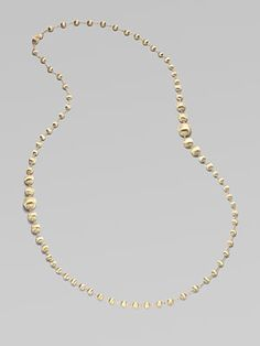 Marco Bicego: 18K Yellow Gold Bead Necklace