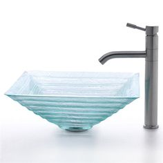 Franke Kitchen Sink Accessories : glass sink combo from Kraus Stylish clear Alexandrite glass sink ...
