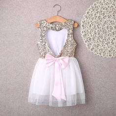 New Baby Girls Shantung Dress Pageant Wedding Party Birthday Formal Party 219F