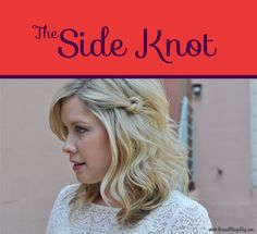 The Side Knot | 26 DIY Hairstyles Fit For A Princess