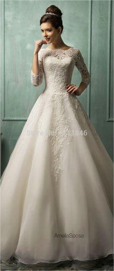 Lace Sleeves Wedding Dresses (62)