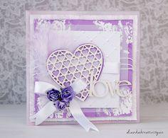 WEDDING CARD - Svatební v lila